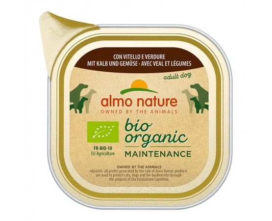 Almo Nature Bio Organic Maintenance mit Kalb & Gemüse 32 x 100 g