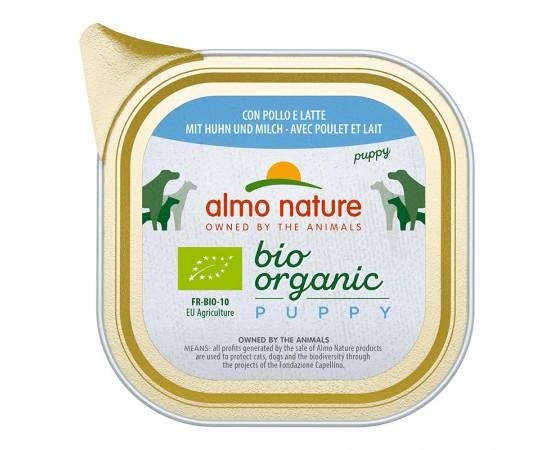 Almo Nature Bio Organic Puppy mit Huhn und Milch 32 x 100 g