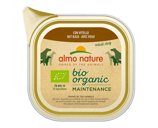 Almo Nature Bio Organic Maintenance mit Kalb 32 x 100 g