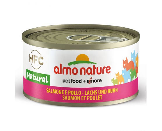 Almo HFC Natural - Dose Lachs & Huhn 24 x 70 g