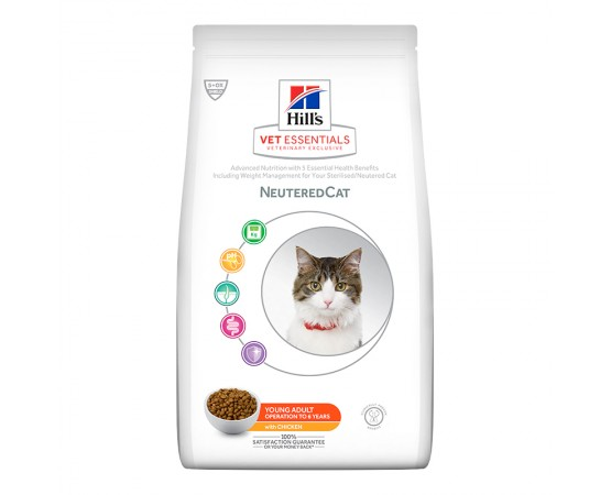 Hill's VetEssentials Feline Neutered Cat Young Adult mit Huhn