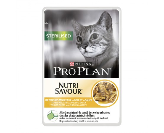 Purina ProPlan Cat Sterilised Nutrisavour mit Huhn 10 x 85 g