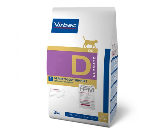 Virbac Veterinary HPM Cat Dermato D1 3 kg