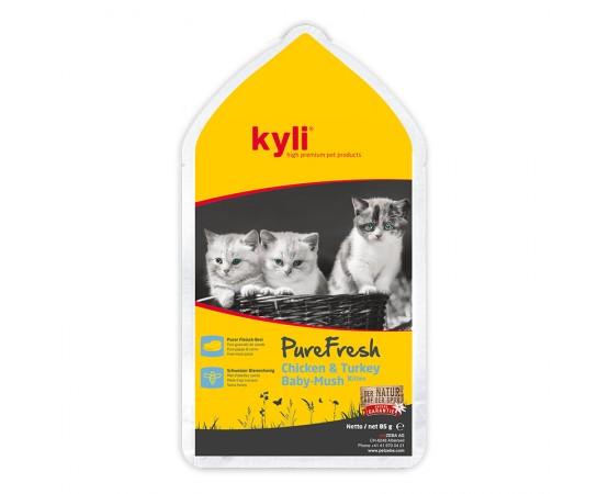 kyli Pure Fresh Chicken & Turkey Baby-Mush 12 x 85 g