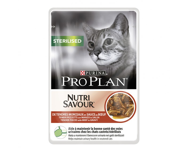 Purina ProPlan Cat Nutrisavour Sterilised Rind 24 x 85g